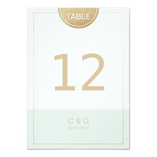 Color editable modern minimalist table number card