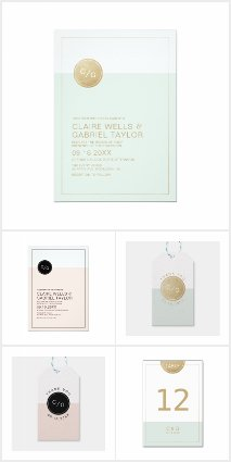 Color Editable Modern Minimalist Wedding Suite