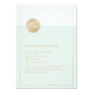 Color editable modern wedding accommodation card