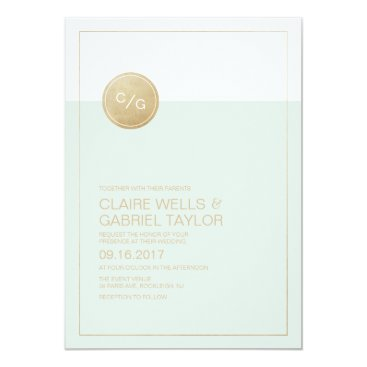 Beach Themed Color editable simple modern wedding invitation