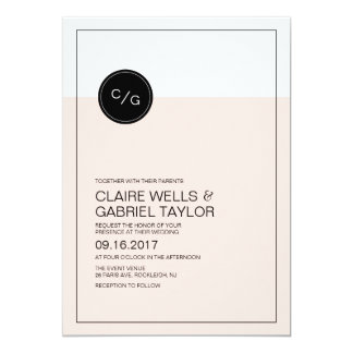 Color editable simple modern wedding invitation