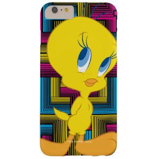 Color electrónico de Tweety Funda Barely There iPhone 6 Plus