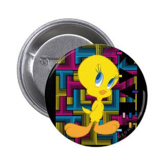 Color electrónico de Tweety Pin Redondo De 2 Pulgadas