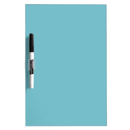Color elegante azul de la moda de Curaçao Tablero Blanco