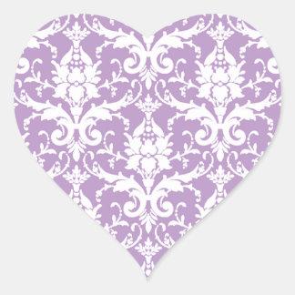 Color elegante del estallido de la primavera 2013 pegatina en forma de corazón