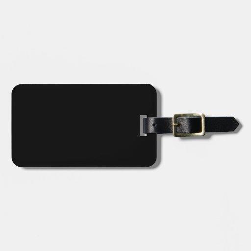 Color elegante negro de la moda etiqueta para maleta