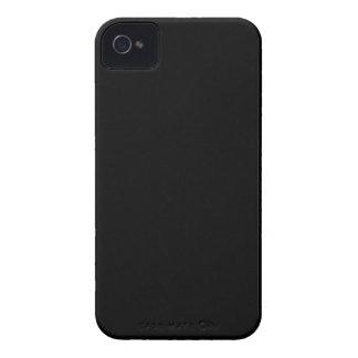 Color elegante negro de la moda iPhone 4 Case-Mate cárcasas