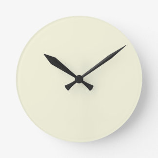 Color elegante poner crema beige de la moda reloj redondo mediano