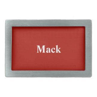Color elegante rojo de la materia textil de encarg hebillas de cinturon rectangulares