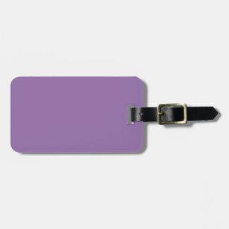 Color elegante violeta de la moda del Bellflower Etiquetas De Maletas