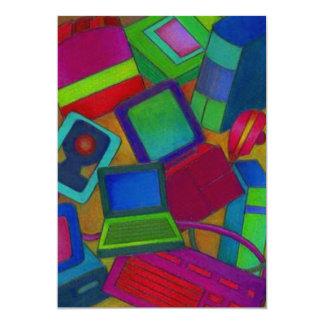 Color en blanco de las invitaciones del extracto invitación 12,7 x 17,8 cm