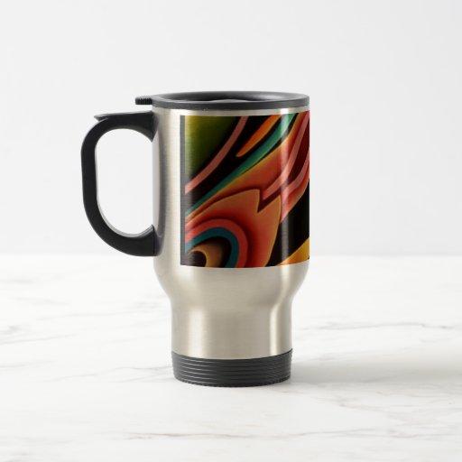 Color en el movimiento taza de viaje de acero inoxidable