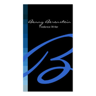 Color en la tarjeta de visita azul del monograma l
