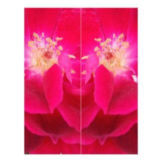 color enrrollado de la flor roja plantillas de membrete
