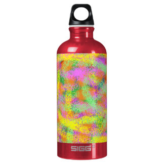 Color Everywhere Abstract Digital Art Aluminum Water Bottle