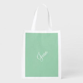 Color exclusivo del verde de encargo de la bolsa para la compra