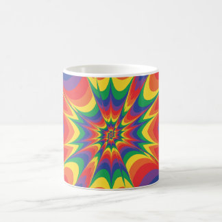 Color Explosion: Abstract Art: Classic White Coffee Mug