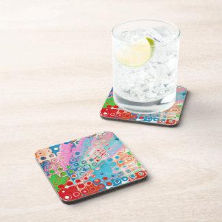 Color Explosion Beverage Coaster