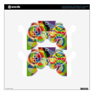 Color Explosion by Robert Delaunay Skins For PS3 Controllers
