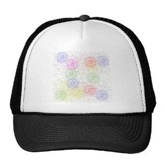 color explosion trucker hat