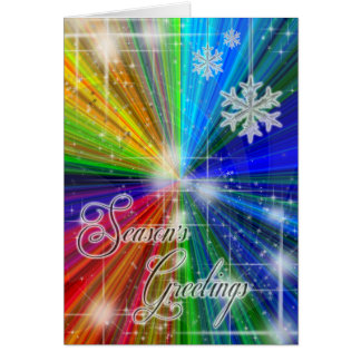 Color Explosion Holiday Greeting Card