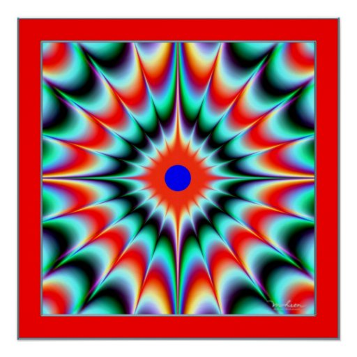Color Explosion Illusion Posters