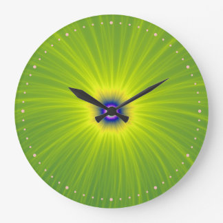 Color Explosion in Green and Yellow Wall Clock