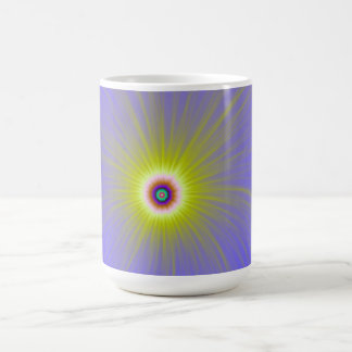 Color Explosion in Yellow and Blue Mug