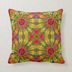 Color Explosion Kaleidoscope Design No.01 Throw Pillow