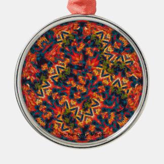 Color Explosion Metal Ornament