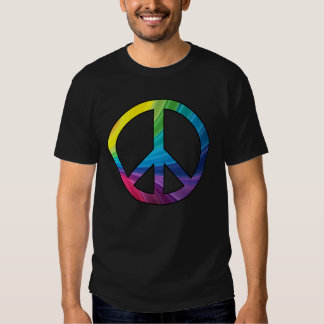 Color Explosion Peace Sign- Shirt