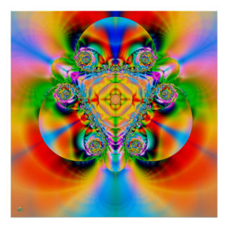 Color Explosion. poster print fractal rainbow