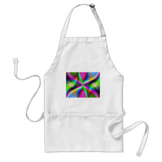 Color Explosion Rainbow Fractal Art Gifts Adult Apron
