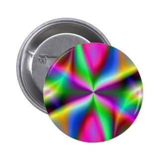 Color Explosion Rainbow Fractal Art Gifts Pin