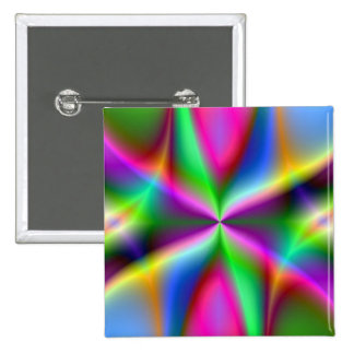 Color Explosion Rainbow Fractal Art Gifts Pins