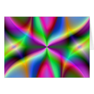 Color Explosion Rainbow Fractal Art Gifts Card