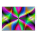 Color Explosion Rainbow Fractal Art Gifts Greeting Card