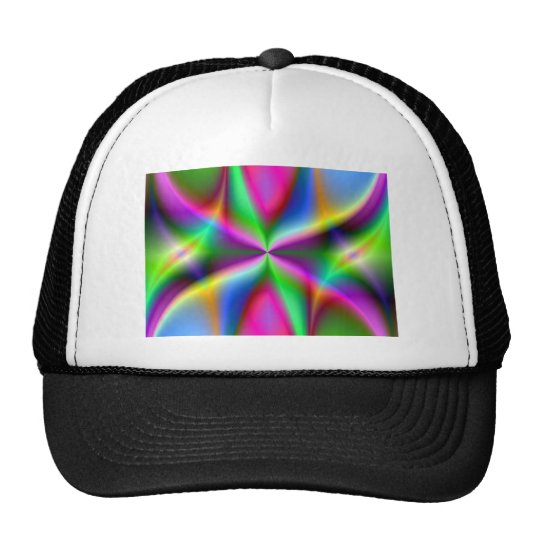 Color Explosion Rainbow Fractal Art Gifts Trucker Hat