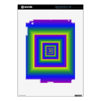 Color Explosion Shadow Boxes iPad 2 Decal