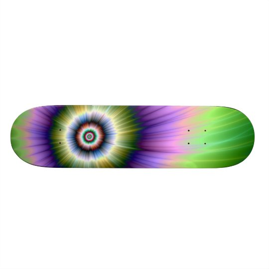 Color Explosion Tie-dyed Skateboard