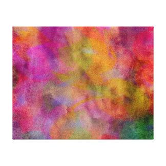Color Explosion Watercolor Red Orange Violet Pink Canvas Print