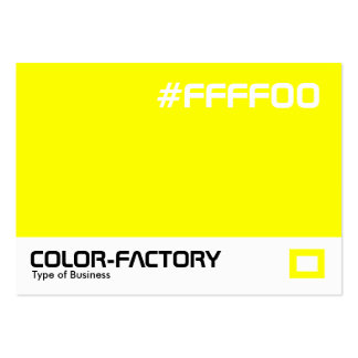 Color Factory - Yellow (FFFF00) Large Business Card