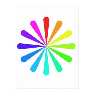 Color Fan Wheel Postcard