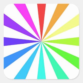 Color Fan Wheel Square Sticker