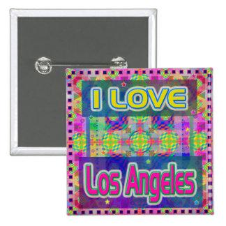 """Color Fest: """"I LOVE Los Angeles"""" Button"""