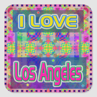 "Color Fest: ""I LOVE Los Angeles"" Sticker"