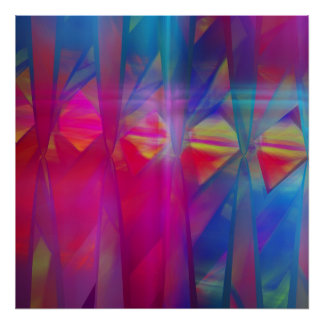 Color Festival, Abstract fractal Poster