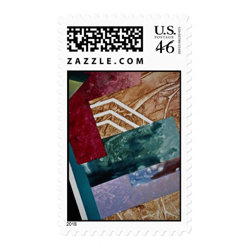 Color fever , abstract art postage
