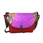 Color Fight Abstract Art Rickshaw Messenger Bag