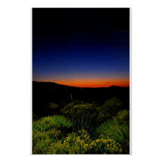 Color Filled Sunset Poster